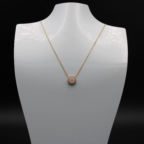 Collier Pierre Quartz Rose